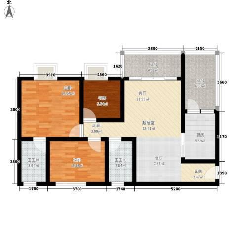 碧桂园凤凰城凤晴苑3室0厅2卫1厨115.00㎡户型图
