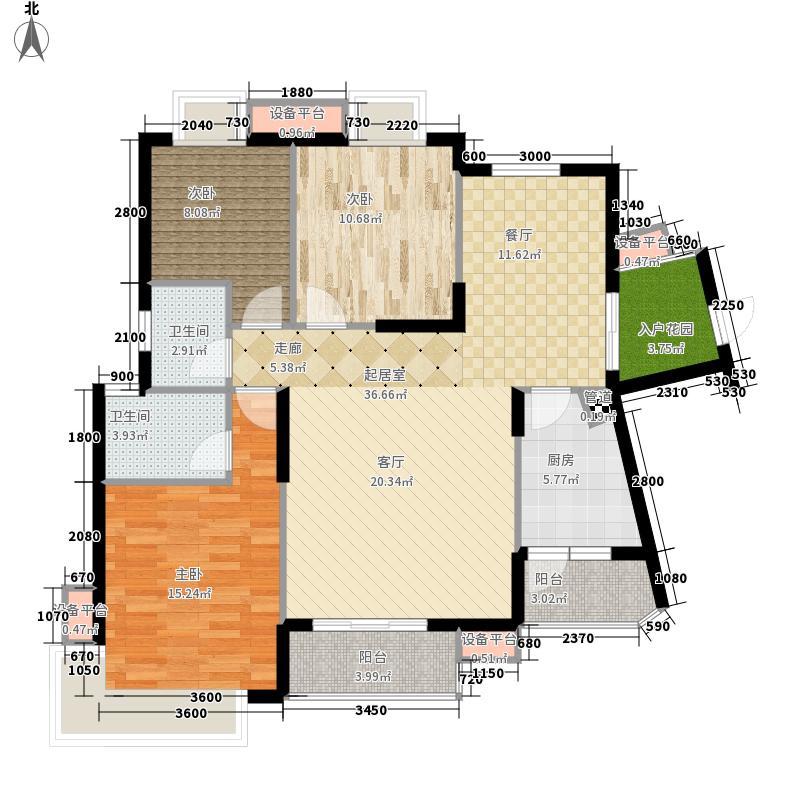 龙光阳光海岸120.00㎡山海湖观邸D5栋3A户型3室2厅