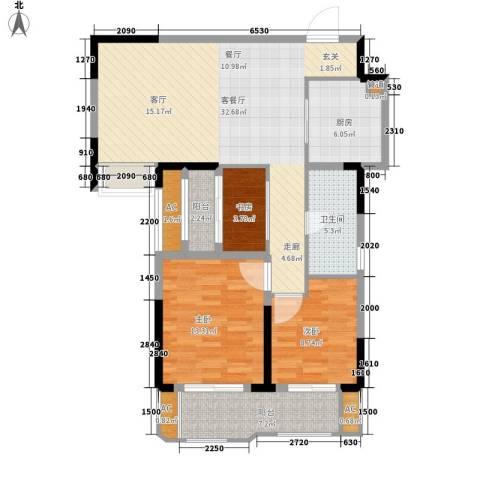 联投国际城3室1厅1卫1厨119.00㎡户型图
