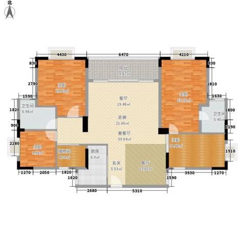 莲花湾畔4室1厅2卫1厨179.00㎡户型图