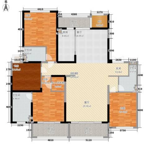 保利星海屿4室0厅3卫1厨218.00㎡户型图