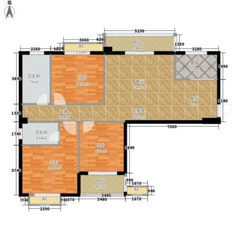 江湾华庭3室0厅2卫1厨125.00㎡户型图