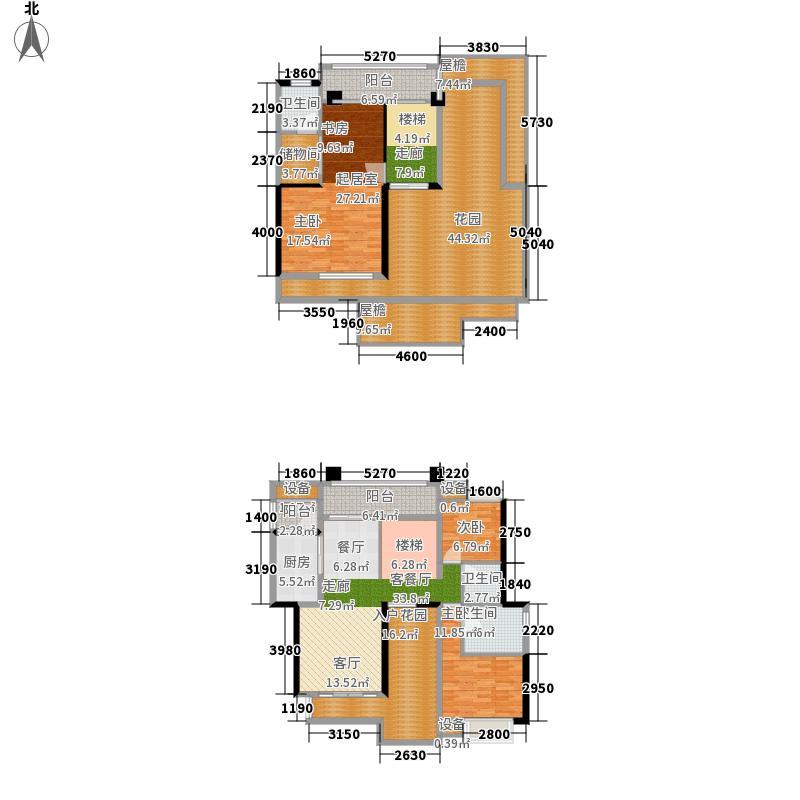 武汉锦绣香江二期233.44㎡武汉锦绣香江棕榈岛B顶层复式户型3室2厅