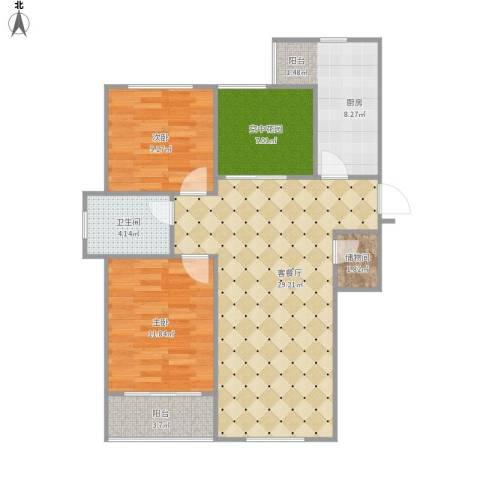 御景豪庭2室1厅1卫1厨102.00㎡户型图