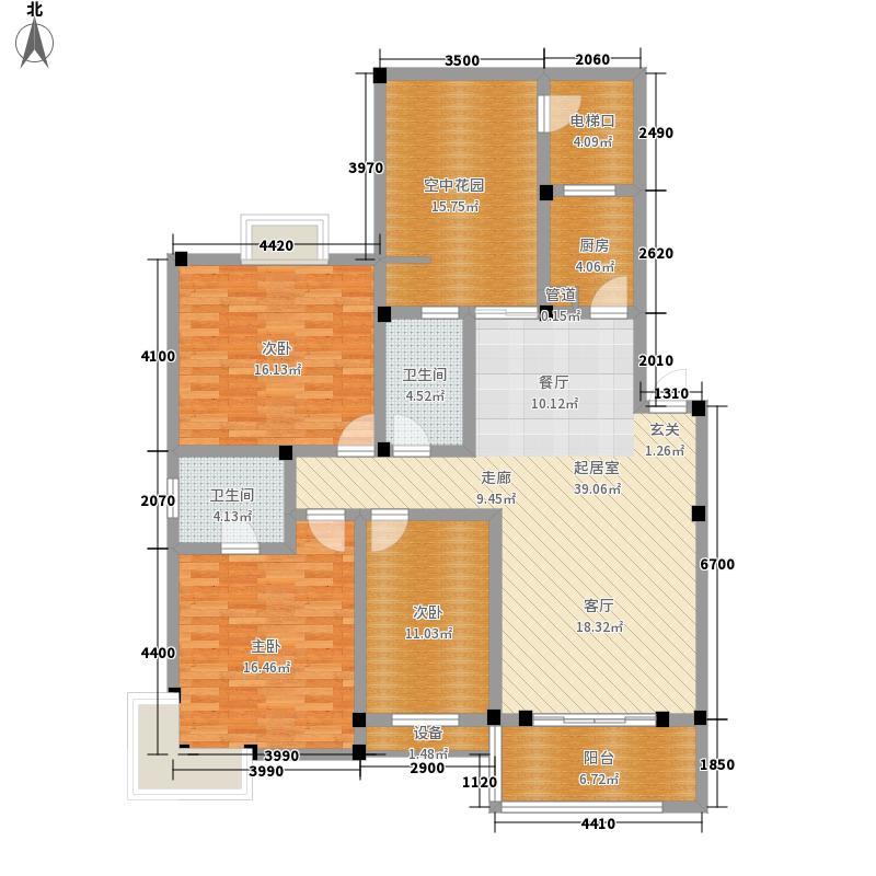 广晟江山帝景凯旋庭8#12#户型3室2厅