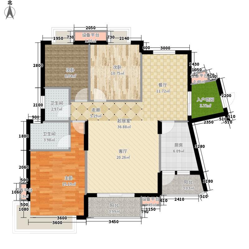 龙光阳光海岸120.00㎡山海湖观邸D5栋-3A户型3室2厅