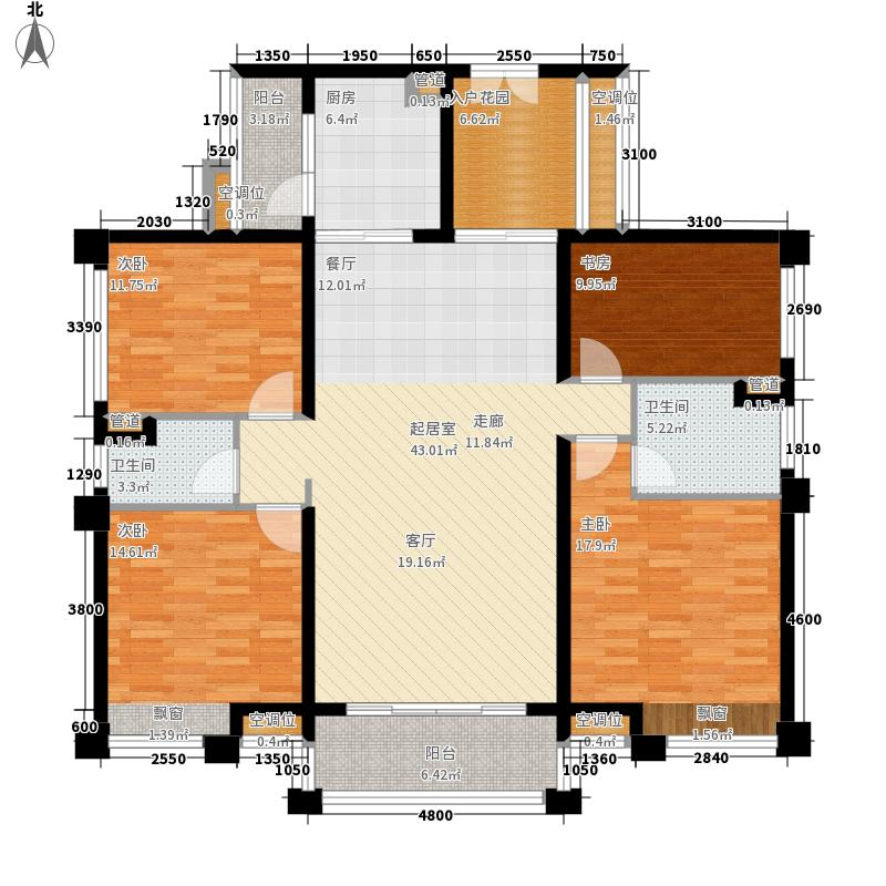 珑翠163.00㎡长隆1栋01户型4室2厅
