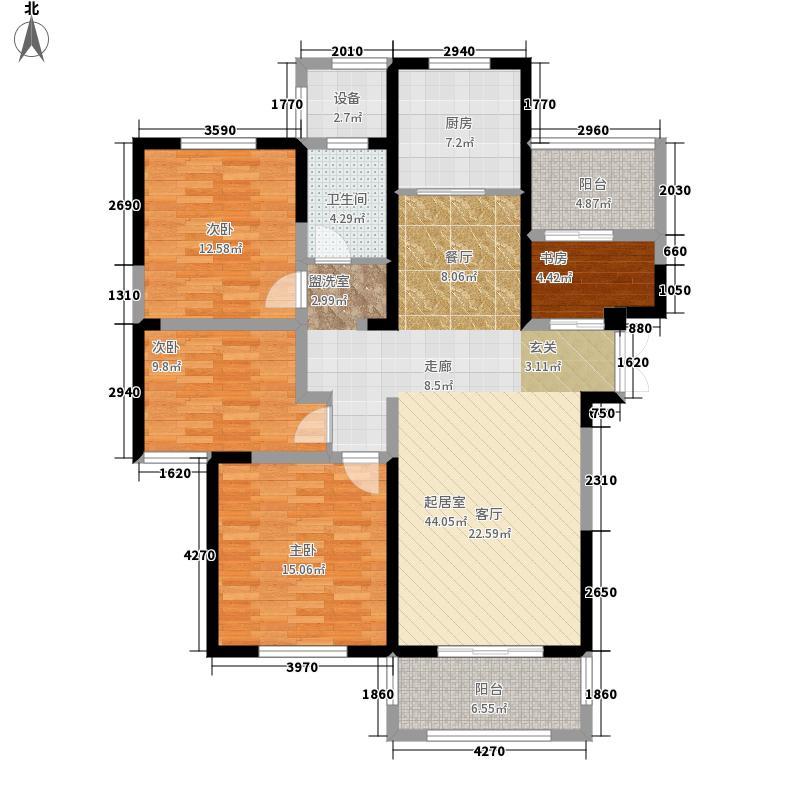 东润首府128.00㎡5#8#楼G5户型