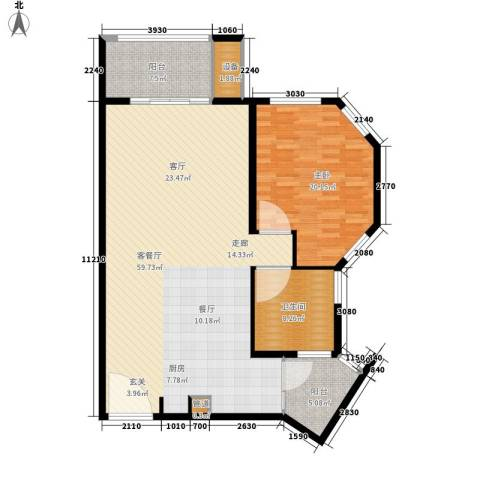 那香海国际旅游度假区1室1厅1卫0厨113.00㎡户型图