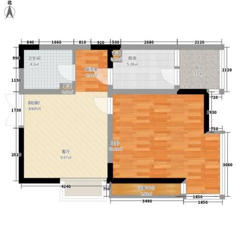 高新锦绣苑1室1厅1卫1厨79.00㎡户型图