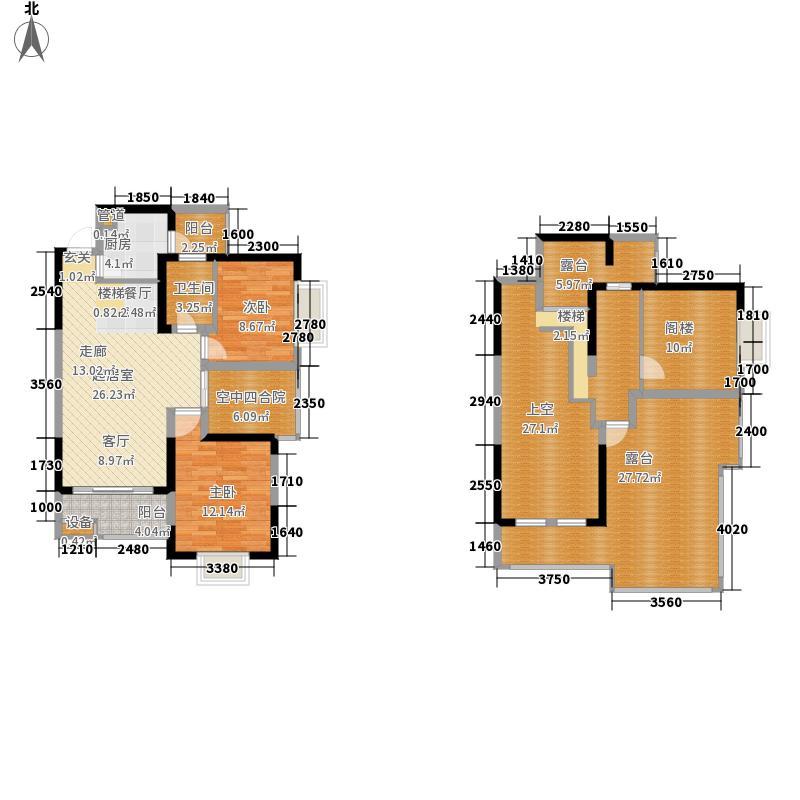 润华尚城116.00㎡R17#、R18#一单元05号房楼中楼两室户型2室2厅