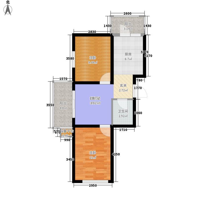 哈南之星户型2室1厅