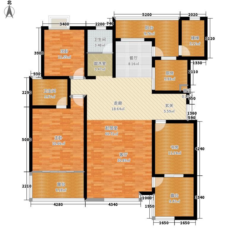 五矿龙湾国际社区155.00㎡花园洋房b2三层平面图户型