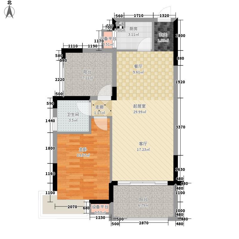 龙光阳光海岸79.00㎡山海湖观邸D3、D4栋-GD-5、GD-6户型1室2厅