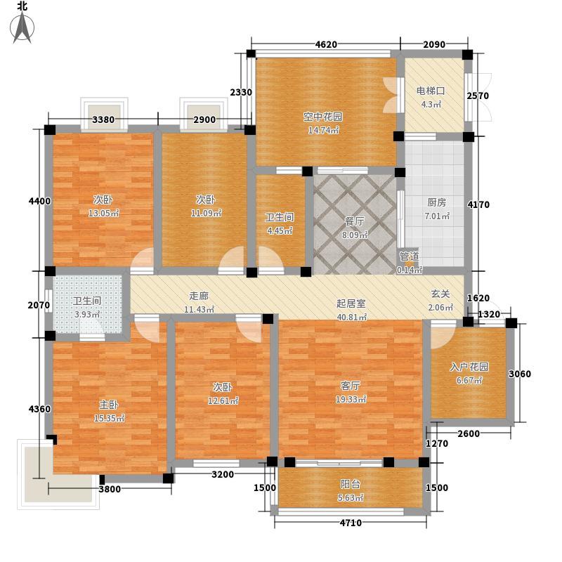 广晟江山帝景凯旋庭10#户型4室2厅