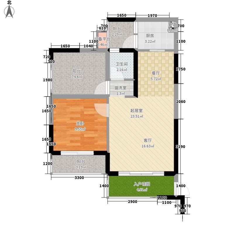 龙光阳光海岸68.00㎡山海湖观邸D3、D4栋-GD-3、GD-4户型1室2厅