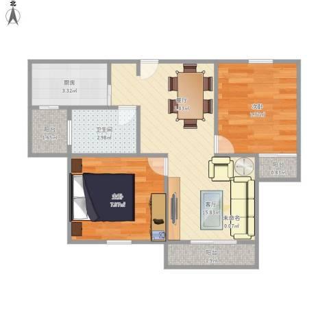 绿地公园壹品别墅2室1厅1卫1厨58.00㎡户型图