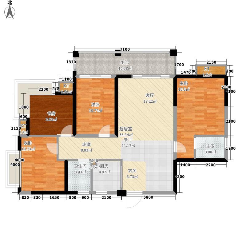 公园豪宅·靠山126.72㎡8栋2单元03户型4室2厅