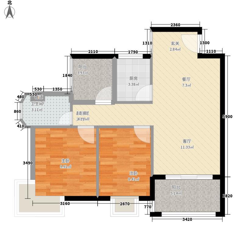 圣煜海岸花间户型3室2厅