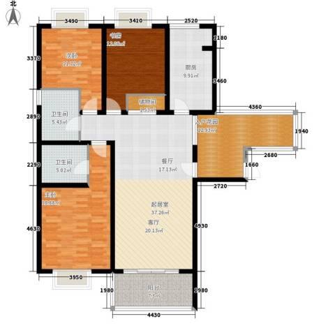 格调春天3室0厅2卫1厨139.00㎡户型图