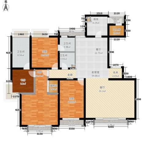 格调春天4室0厅3卫1厨199.00㎡户型图
