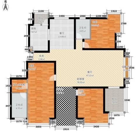 格调春天3室0厅2卫1厨190.00㎡户型图