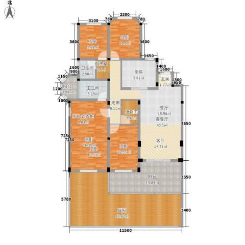 联投国际城4室1厅2卫1厨194.95㎡户型图