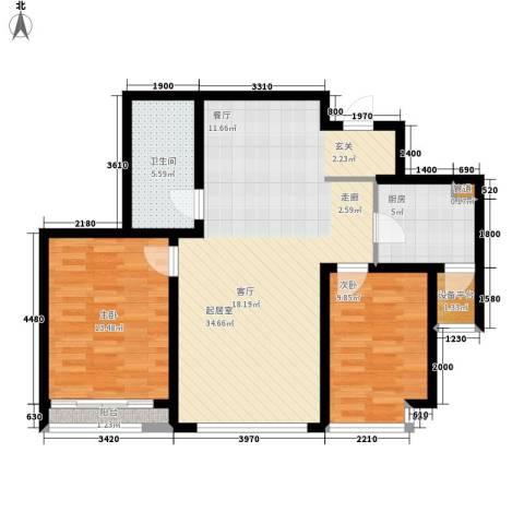 格调春天2室0厅1卫1厨110.00㎡户型图