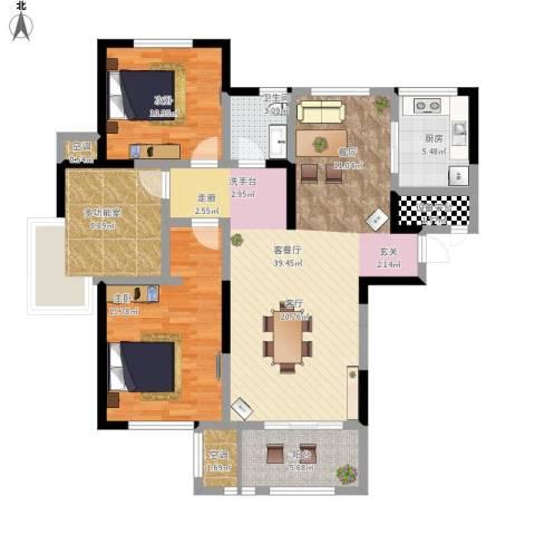 高力金色果缘2室1厅1卫1厨135.00㎡户型图