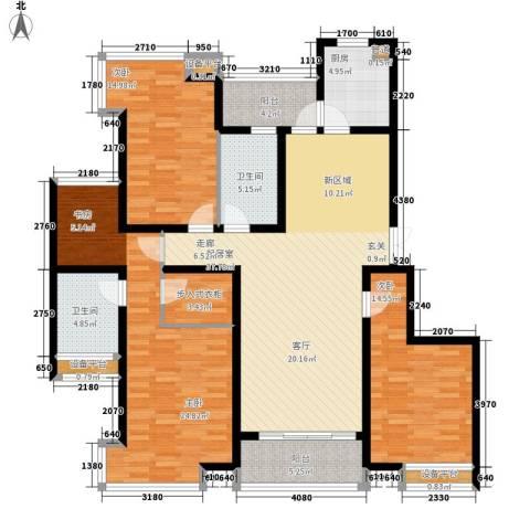 格调春天3室0厅2卫1厨145.00㎡户型图