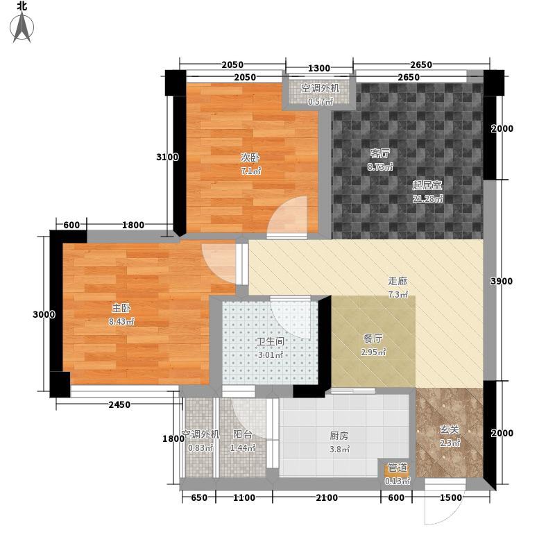 嘉通云玺64.49㎡A1户型2室2厅