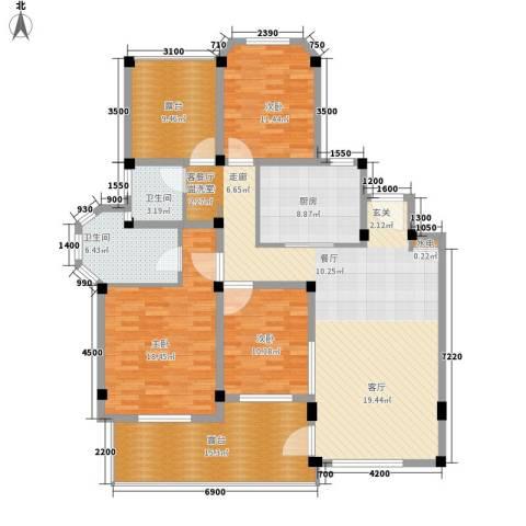 联投国际城3室1厅2卫1厨127.00㎡户型图