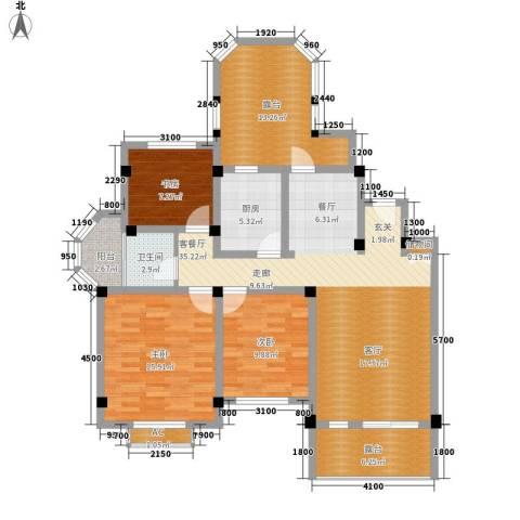 联投国际城3室1厅1卫1厨105.00㎡户型图