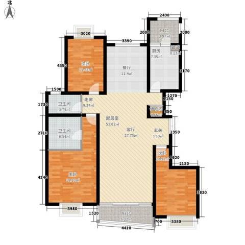 格调春天3室0厅2卫1厨170.00㎡户型图