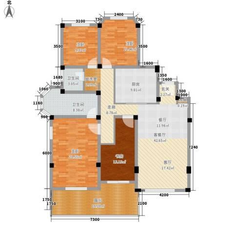 联投国际城4室1厅2卫1厨157.00㎡户型图
