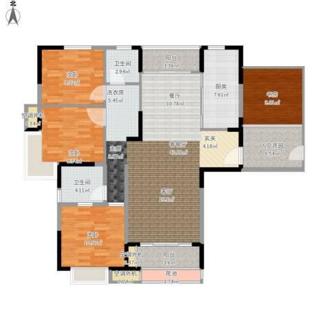 新乡星海传说4室1厅2卫1厨196.00㎡户型图
