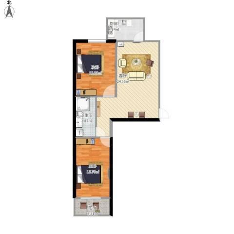 和平嘉园2室1厅1卫1厨88.00㎡户型图