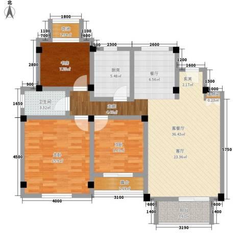 联投国际城3室1厅1卫1厨104.00㎡户型图