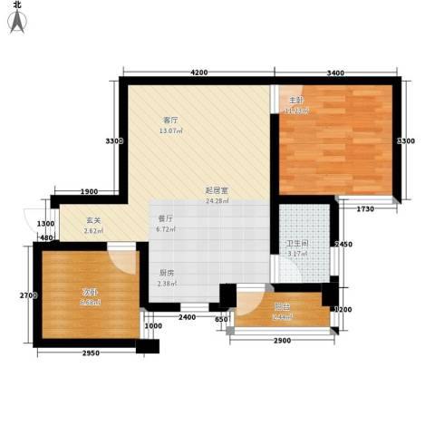 融圣国际2室0厅1卫0厨65.00㎡户型图
