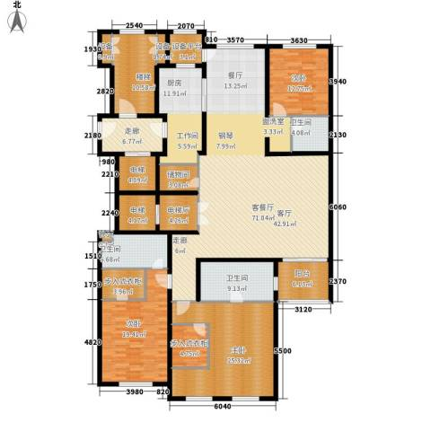 大华清水湾花园三期华府樟园3室1厅3卫1厨241.00㎡户型图