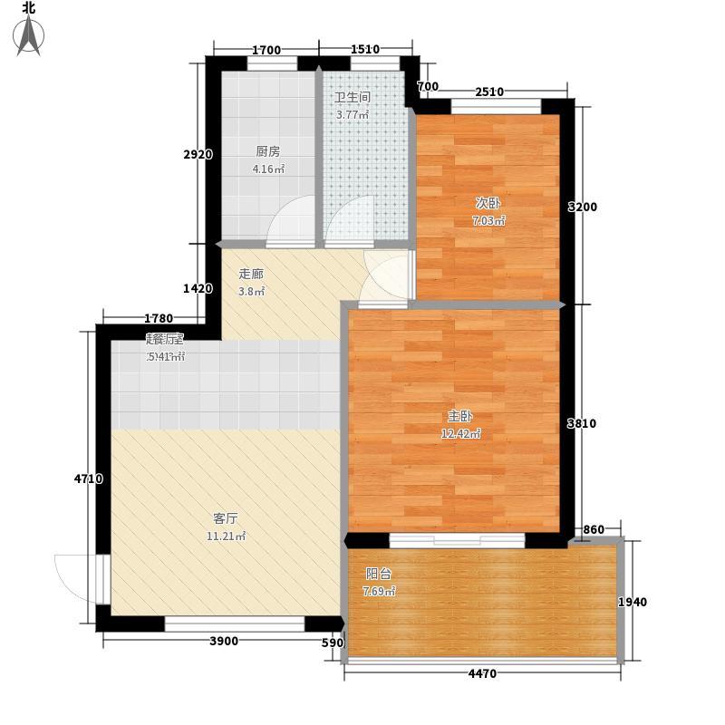 山海湾温泉家园六期75.55㎡山海湾温泉家园一期5#-10#楼C户型2室2厅