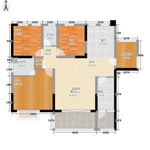 融圣国际3室0厅2卫1厨145.00㎡户型图