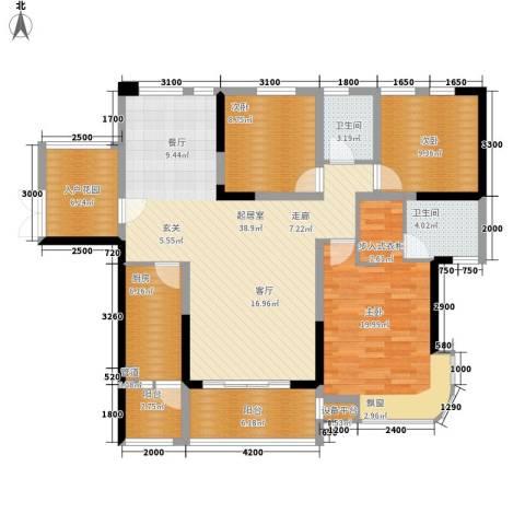 融圣国际3室0厅2卫1厨143.00㎡户型图
