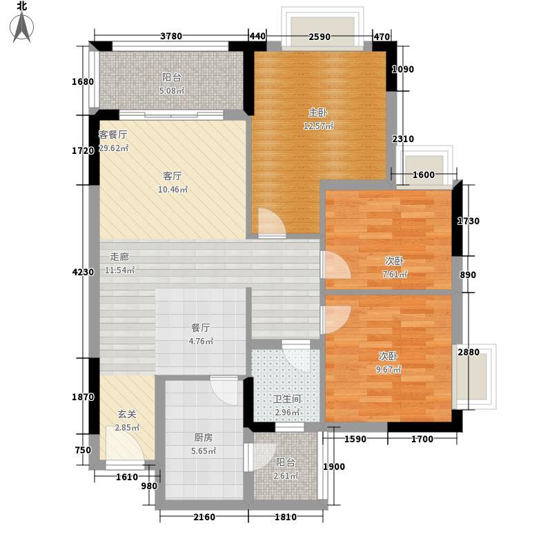 莲花湾畔86.26㎡7梯4号房面积8626m户型