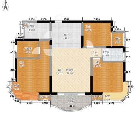 融圣国际3室0厅2卫1厨124.00㎡户型图