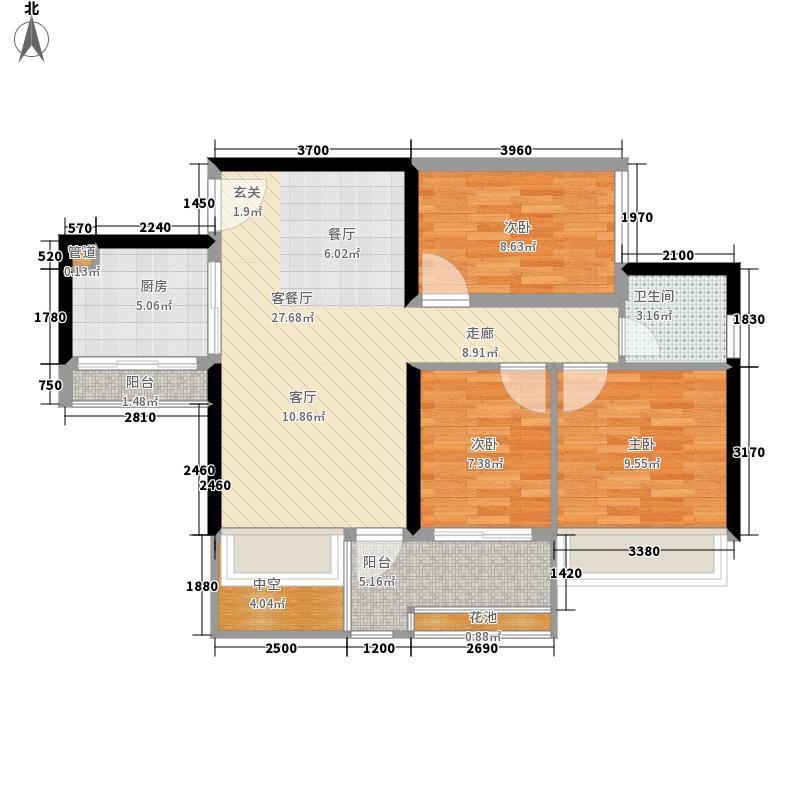 怀德公元86.00㎡3栋、4栋、5栋F-户型3室2厅