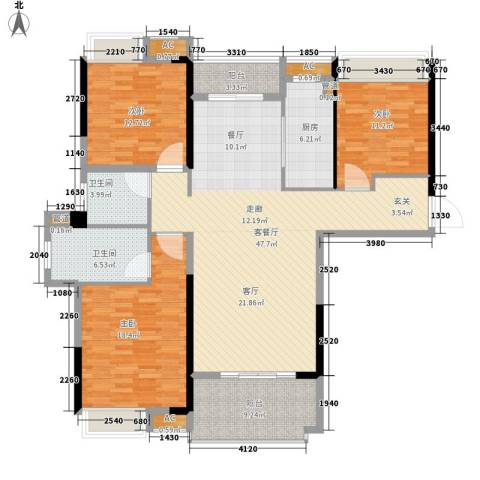 联投国际城3室1厅2卫1厨172.00㎡户型图