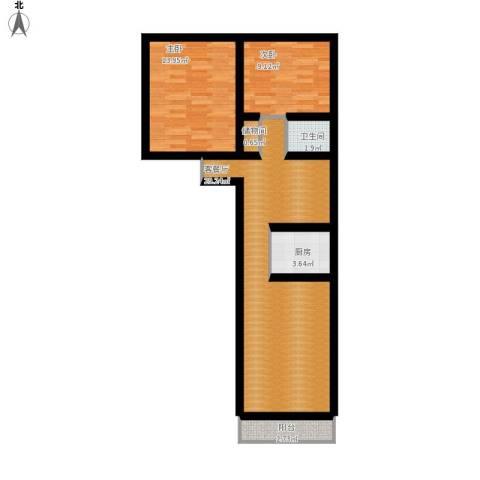 车站东街15号院2室1厅1卫1厨97.00㎡户型图