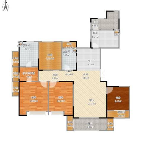 天正天御溪岸3室1厅2卫1厨192.00㎡户型图