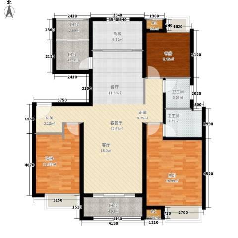 联投国际城3室1厅2卫1厨152.00㎡户型图